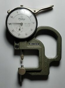Mitutoyo 7312 Dial Thickness Gage With Indicator 2412 08