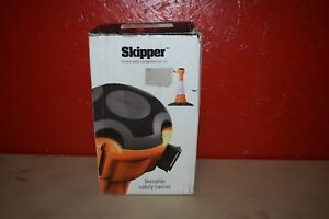 Skipper Retractable Barrier Black yellow Tape 29 6
