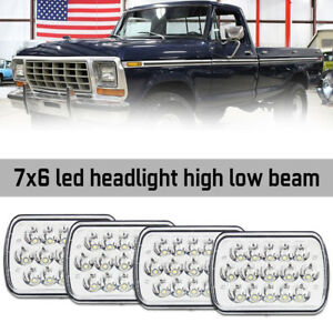 7x6 Led Headlight Projector For Ford Super Duty Truck 1997 1998 Ford Cargo