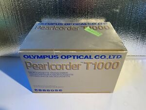 Olympus Pearlcorder T1000 Microcassette Transcriber With Pedal Headset Manual