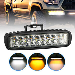 120w 18 Led Strobe Light Bar Car Truck Emergency Warning Flash Lamp White