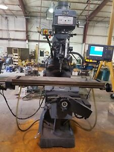 Clausing Atlas Vertical Milling Machine 10 X 54 Power Feed W Accurite Power Mil