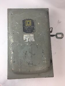 Square D D 96354 Fusible Disconnect Switch 200 Amp 240 Vac 3ph