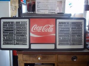 4ft Coca cola Menu Board Sign W 2 Sets Of Coke Black Letters Numbers