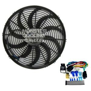 Ford Coupe Chevy Motor Electric Radiator Fan 16 Electric 160w Relay Kit