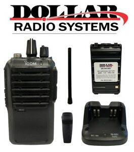 Used Icom Ic f3001 Vhf 136 174mhz 16ch 5w Portable Business Two Way Radio