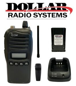 Used Icom Ic f3021s Vhf 136 174mhz 128ch 5w Portable Business Two Way Radio