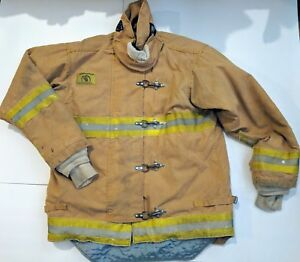 Morning Pride Fire Fighter Bunker Gear Turnout Coat Jacket L xl See Photos