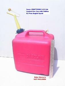 Craftsman P500 5 25 Gal Gas Can With Chilton Angled Spout Nice Htf