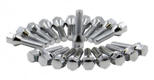 20x 16x1 5 Chrome Cone Large Seat 22mm Hex Wheel Rims Lug Bolts 32mm Shank Dodge