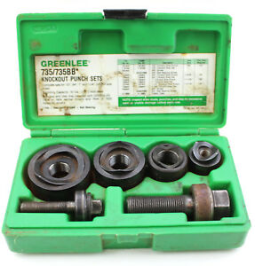 Greenlee 735bb Knockout Punch Set