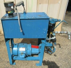 Hydraulic Power Unit W Valves And Reliance Electric Motor P18g3800a