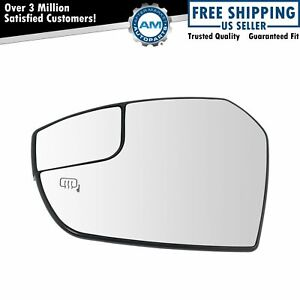 Heated Mirror Glass With Spotter Driver Side Left Lh For Ford Escape New