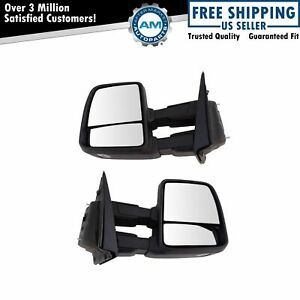 Mirror Towing Power Folding Heated Signal Spotlight Memory Texture Pair For F150