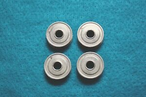4 Vintage 1 Inch Sewing Machine Bobbins White Domestic Kenmore