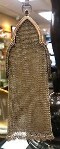Antique German Sterling Silver Mesh Flapper Purse