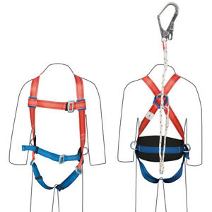 Gu5027 Silverline Restraint Kit Harness Lanyard Safety Fall Protection
