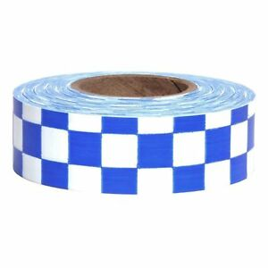 Sew On High Visibility Hi Vis Checkered Reflective Tape 2 X 25 Yds Blu New