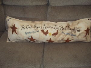 Primitive Shabby Farmhouse Stenciled Pillow The Olde Rusty Rooster Extremely L