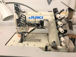 Juki Mf 7723 3needle 1 4 Top Bottom Coverstitch 110v Industrial Sewing Machine