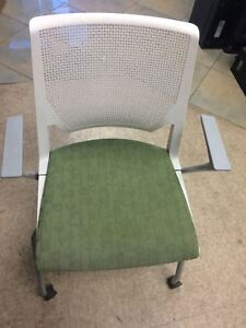 Haworth Improv Stacking Side Guest Chair With Arms Free Shipping