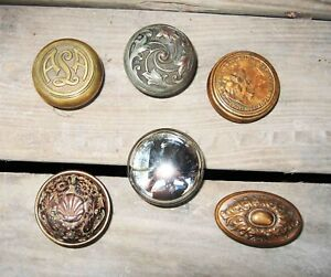 6 Piece Lot Antique Brass Bronze Victorian Door Knob Doorknobs W Detroit Edu