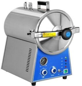 24l Dental Autoclave Steam Sterilizer Medical Sterilization Lab Equipment Dhl