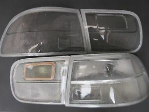 Honda Civic 1992 1995 Sedan 4dr Coupe Ej1 Si Clear Taillight Lenses Type R