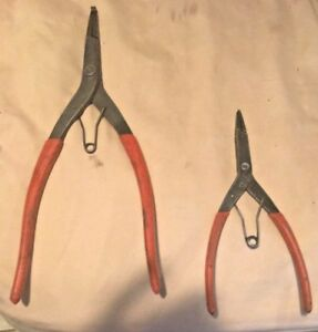 Snap On Snap Ring Pliers Set Part Number s 700cp 71cp Vintage