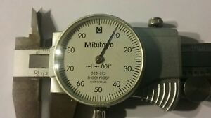 mint Mitutoyo 505 675 6 Dial Caliper With Case Machinist tool And Die Tools