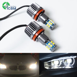 120w H8 Led Angel Eyes Halo Ring Lights Bulb 6500k For Bmw E92 E93 E63 E70 X5 X6