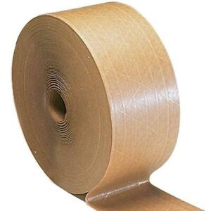 Gummed Packing Tape Industrial Grade Tan brown 3 X 450 Water Activated 90 Rls