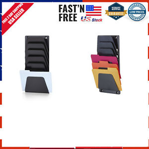 Officemate Wall File Holder Letter legal 7 Pockets Black 21505