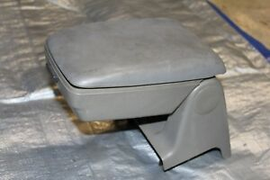 87 93 Ford Mustang Center Console Arm Rest Armrest Smoke Grey Gray Foxbody Oem