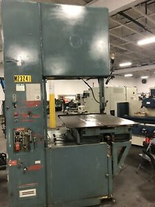Grob 6v 36 Vertical Bandsaw 72 X 48 Table 30 Vertical Blade Welder