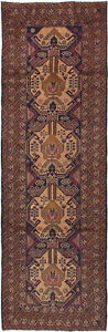 Hand Knotted Carpet 2 11 X 9 3 Traditional Vintage Wool Rug