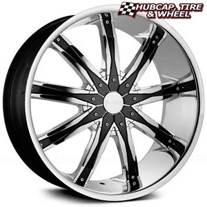 Dcenti Dw29 Chrome W Black Inserts 24 x9 5 Custom Wheels Rims set Of 4 New