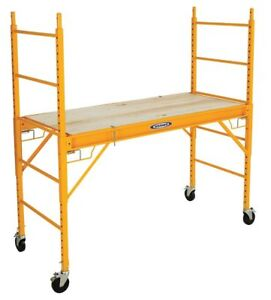 Werner Scaffold Tower Steel 6 Ft Platform Height 6 Ft 3 Overall Height