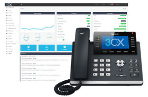 3cx Voip Clouding For Pbx Phone System Server Includes Free 16 Call 3cx License