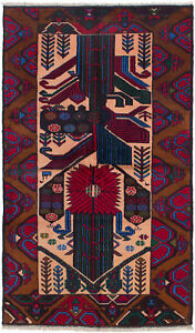 Hand Knotted Carpet 3 3 X 5 10 Traditional Vintage Wool Rug