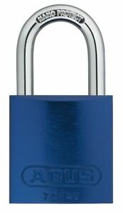 Abus Blue Lockout Padlock Alike Key Type Master Keyed Yes Aluminum Body
