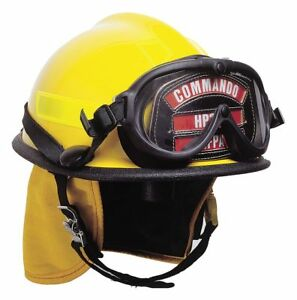 Cairns Yellow Fire Helmet Shell Material Thermoplastic Ratchet Suspension