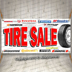 Tire Sale Advertising Vinyl Banner Flag Sign Usa 15 18 20 30 48 52 Fix