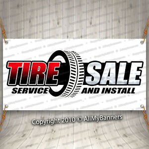 Tire Sale Advertising Vinyl Banner Flag Sign Many Sizes Usa Mechanic Fix