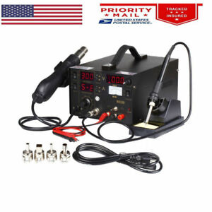 3in1 853d 1a Dc Power Supply Smd Bga Soldering Rework Station Hot Air Gun 220v