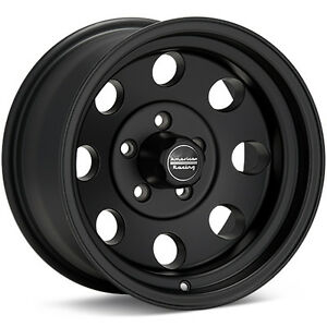 4 15 Inch 15x7 Black Wheels Rims Early Classic Chevy Old School 5x4 75 W Lugs