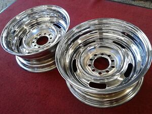 15x6 Rev Reverse Wheel Rim Ford Chevy Rally Chrome 5x4 5 5x4 75 Street Rod