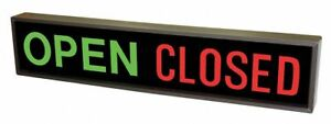 Tapco 108979 Led Parking Sign Open closed