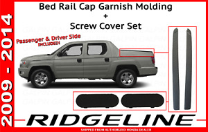 Honda Ridgeline Improved Bed Rail Cap Molding Screw Cap Covers 06 14 Pair Caps