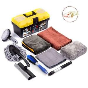 Mofeez 9pcs Car Cleaning Tools Kit With Blow Box Car Vent Brush Tire Brush Wash